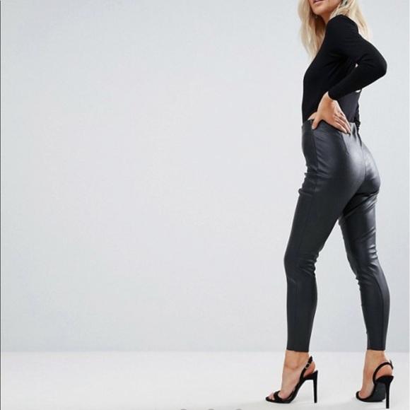 ff7bf53cbac1a2 ASOS Petite Pants | Asos High Waisted Faux Leather | Poshmark